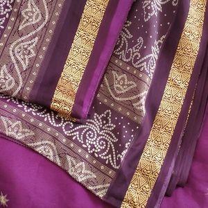 Purple & Gold Sari